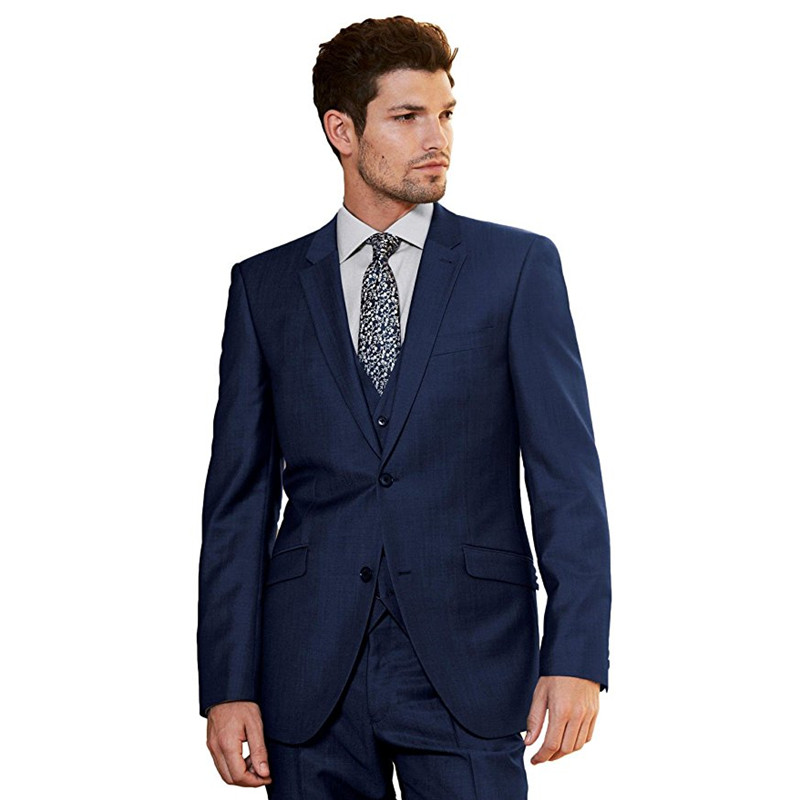 Custom Made Hot Sale Mens Wedding Men's 3 Piece Wedding Groom Formal Suits Men Suits Wedding Suits (Jacket+Pants+Vest) G532