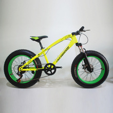 Bicycle 7/21/24/27 Speed Mountain Bike 20 * 4.0 Fat Tire Bikes Shock Absorbers Bicycle Free Delivery Snow Bike pasion e bike 24 speed mtb bicycle 26 fat tire bike aluminum alloy full suspension mountain fat bikes hydraulic disc brake