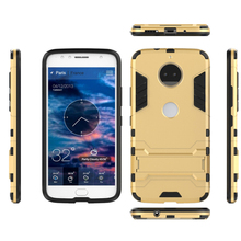 Phone case Iron Man Anti-fall Set Armor TPU Mobile Shell with Stand FOR:Motorola G5 G5S Z2 G6 E5 X4 PLUS and other mobile phones