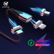 KSTUCNE Magnetic Charge USB Type C Micro USB-C Cable Fast Charging Wire For iPhone Samsung Huawei xiaomi redmi 9s Magnet Charger bayserry magnetic charger micro usb type c cable for iphone 11 xr magnet cable fast charging wire for samsung s20 xiaomi huawei