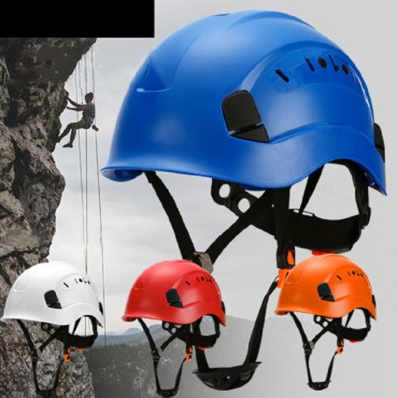 Climbing Safety Helmet Head Protection Work ABS Anti-Impact Shell Adjustable Breathing Vents Outdoors Sports Construction