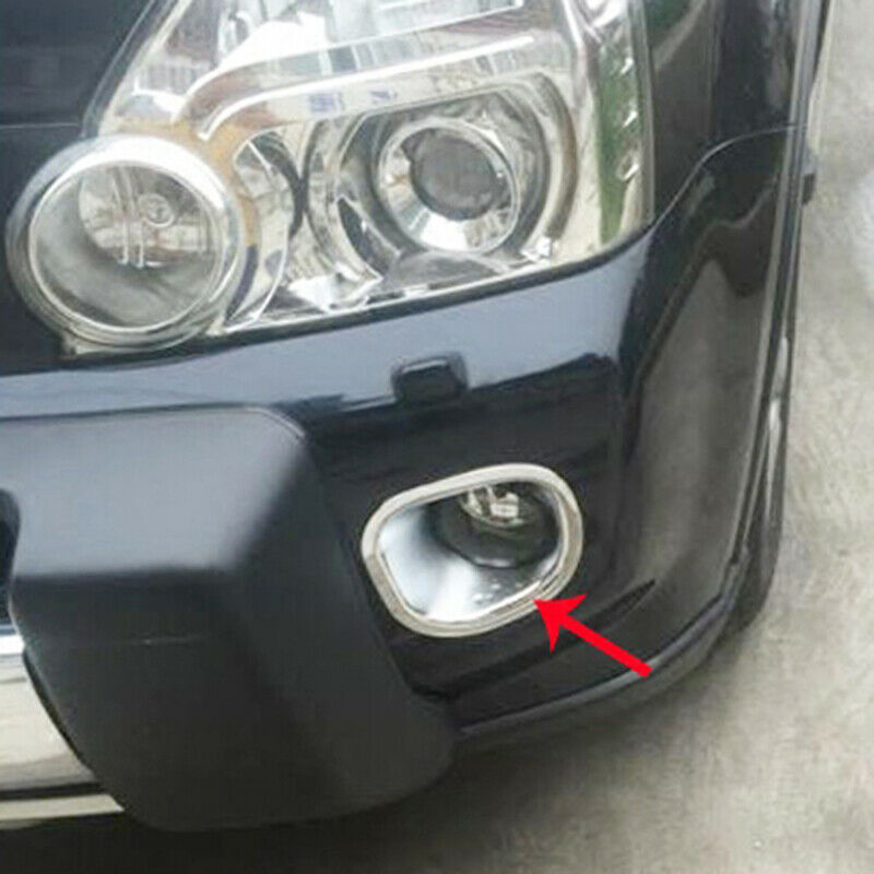Lamp Fog Light Cover <font><b>Auto</b></font> Nebelleuchte <font><b>Abdeckung</b></font> Garnish For Nissan X-Trail (T31) 2008-2010 (4 doors) Waterproof Chrom image