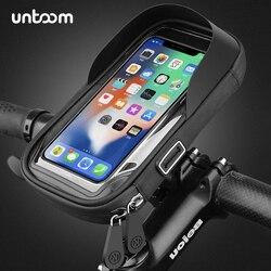 Soporte impermeable para teléfono para bicicleta de 6,4 pulgadas soporte para manillar de motocicleta Funda Universal para teléfono móvil