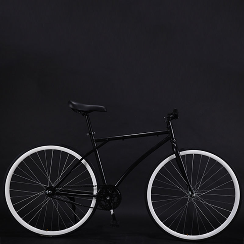 Bicycle Road Bike Fixed Gear Adult Men And Women Models Racing Solid Tires 26 Inch Single Speed Students