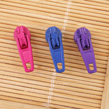 20/50/100 piece/lot 3# Nylon Coil Zipper Slider DIY Zipper Puller Head Auto-Lock For Sewing Tailor Tools Colorful 25 Colors