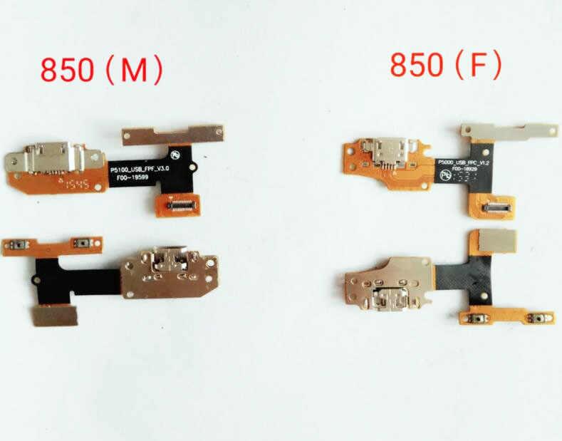 Nova porta de carregamento usb cabo flexível para lenovo yoga tab 3 YT3-X50L YT3-X50f YT3-850M/f YT3-X50m doca conector placa fita cabo