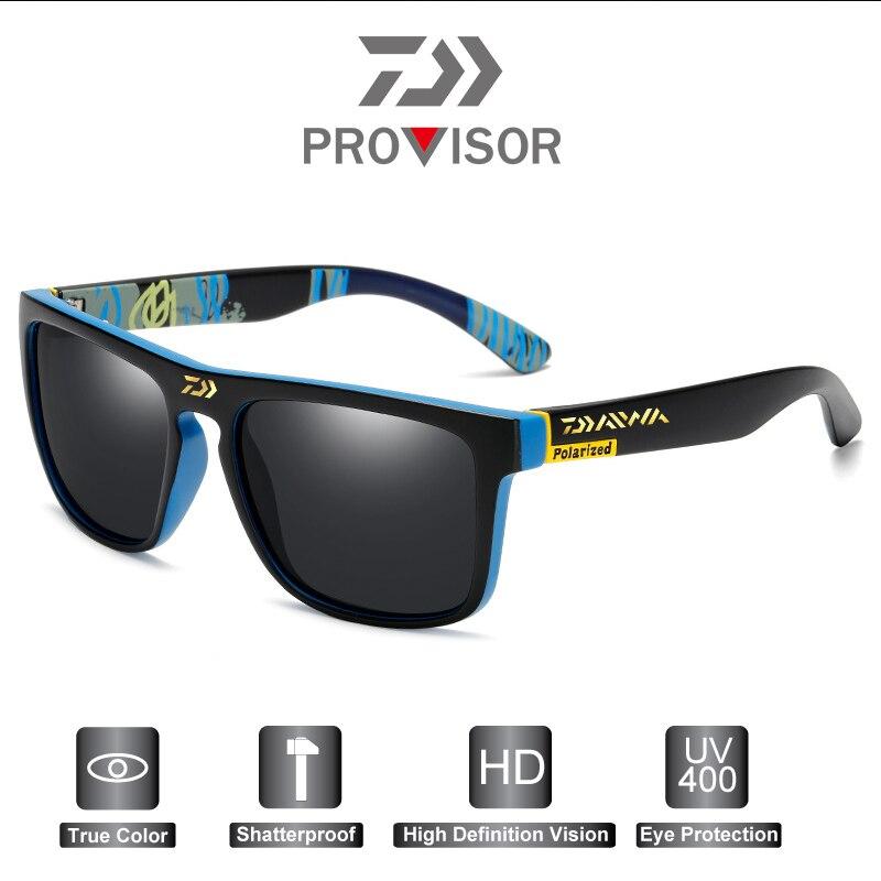 2020 Daiwa Fashion Men's Anti-UV Fishing Sunglasses Outdoor Polarized Cycling Sunglasses Retro Sports Polarized Sunglasses UV400