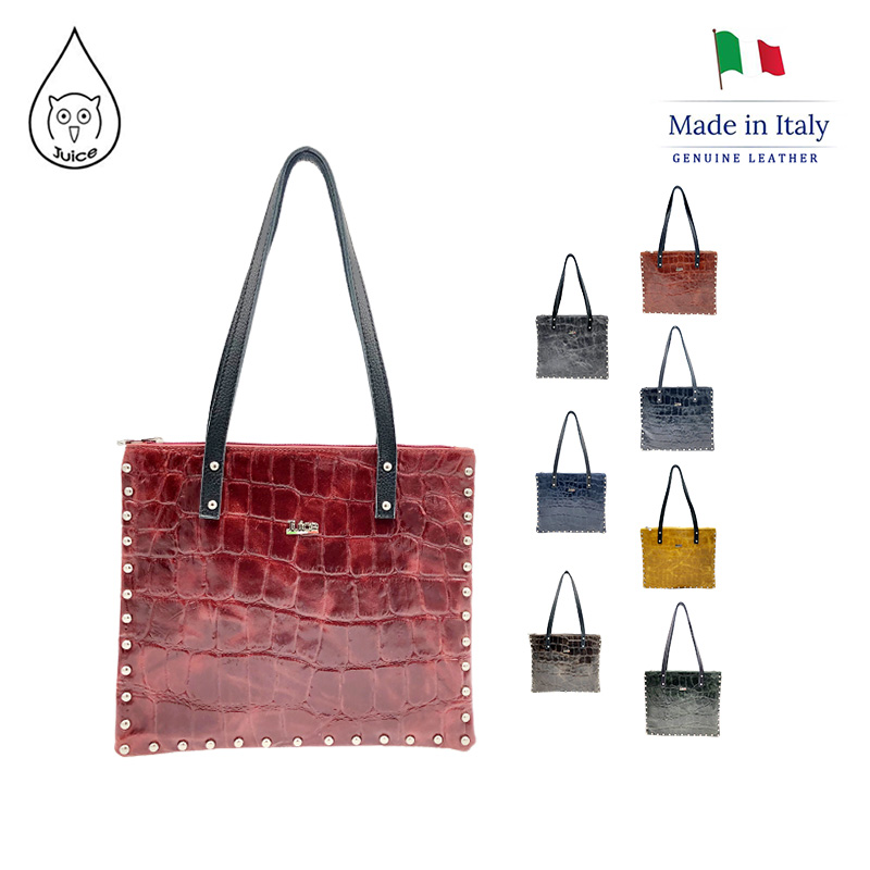 JUICE ,made In Italy, Genuine Leather, Women Bag,women Shoulder Bags 112199