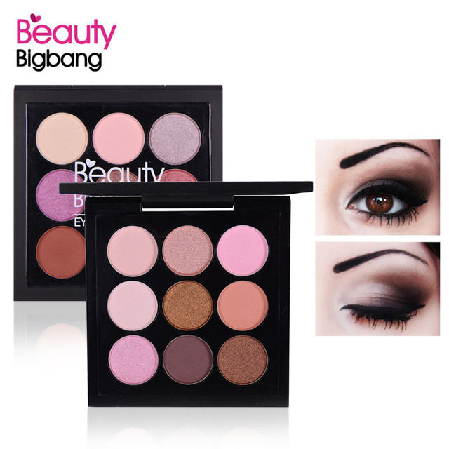 BeautyBigBang 9 Colors Eyeshadow Pallete Eyeshadow Matte Shimmer Makeup Pallete Sombras Maquiagens Cienie Do Powiek Eye Shadow 1