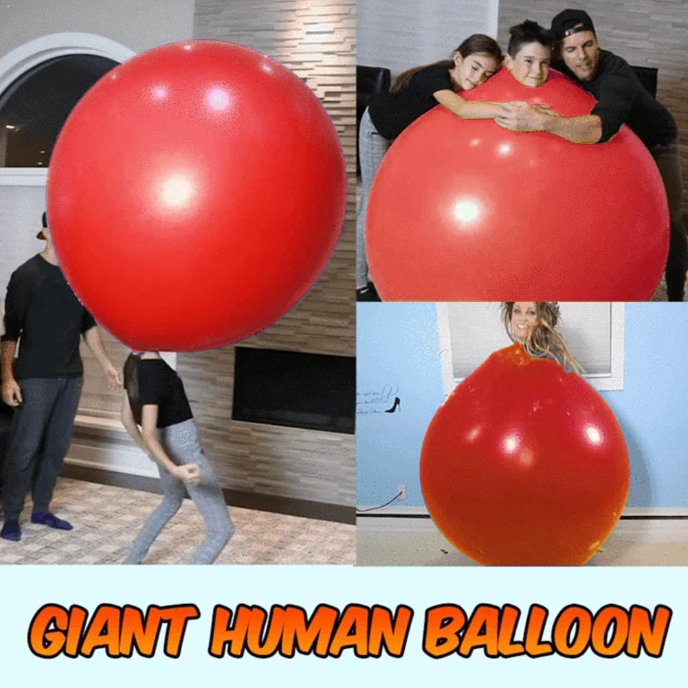 72 Inch Latex Giant Human Egg Balloon Round Climb-in Wedding Balloon For Funny Birthday Children Game Outdoor Decor Toys Pa L7H0