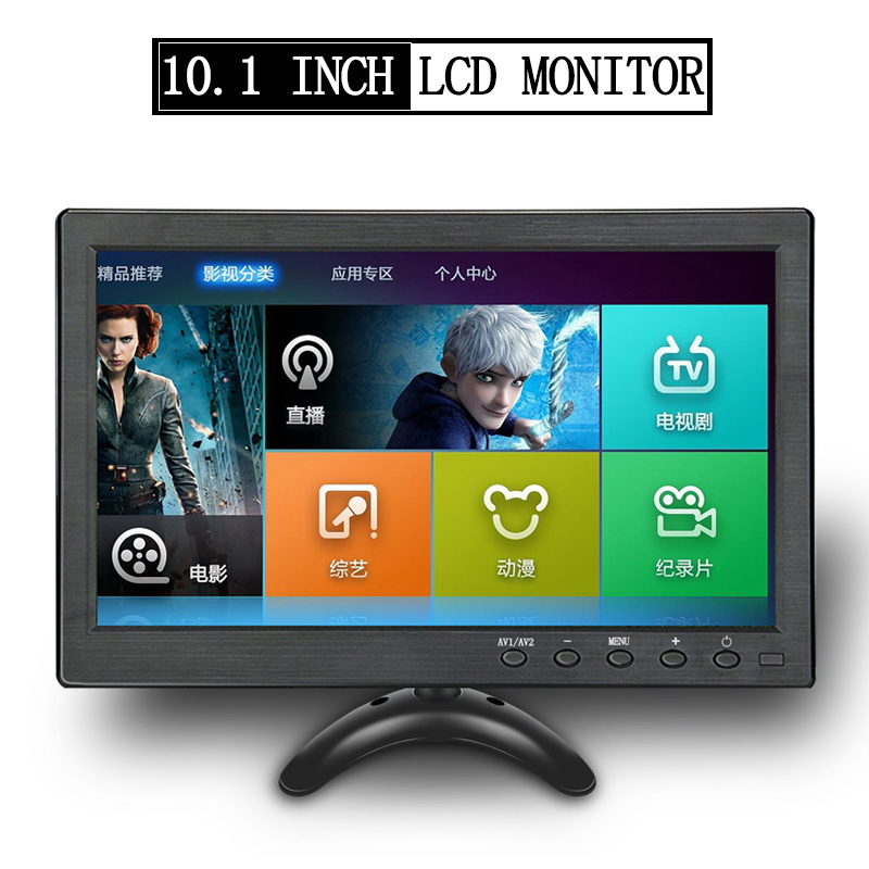 10.1 Inch Lcd Monitor Car Mp5 Player Display Color Screen Ps3 Ps4 Xbox Pc Gaming Reverse Camera Hd Hdmi Vga Auto Electronics Hd