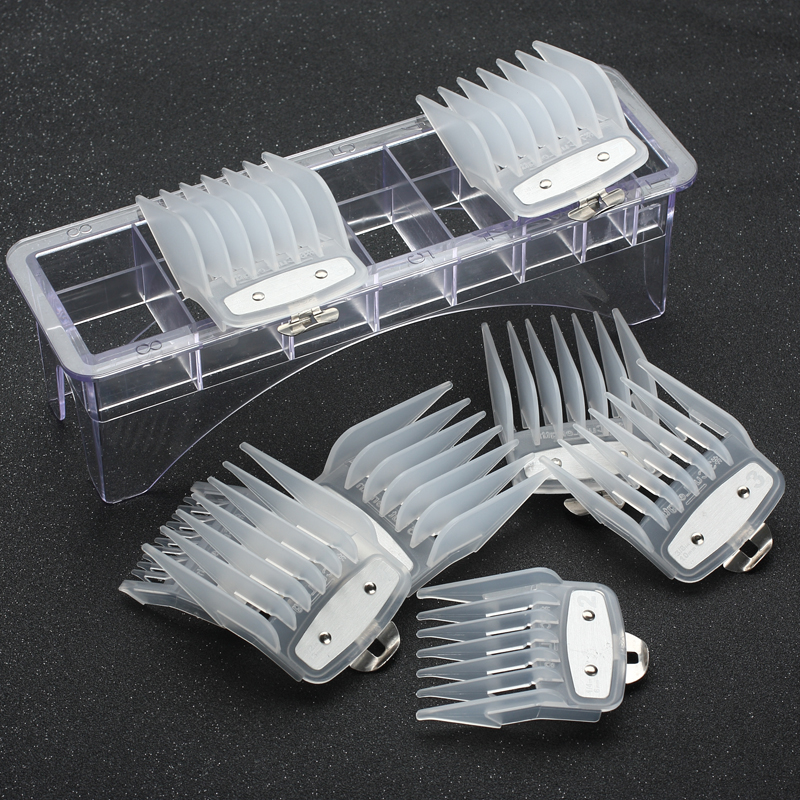 8 Sizes Of Guide Comb Sets With A Box Metal Combs Spare Parts Hair Clipper Limited Combs Metal Clip Set