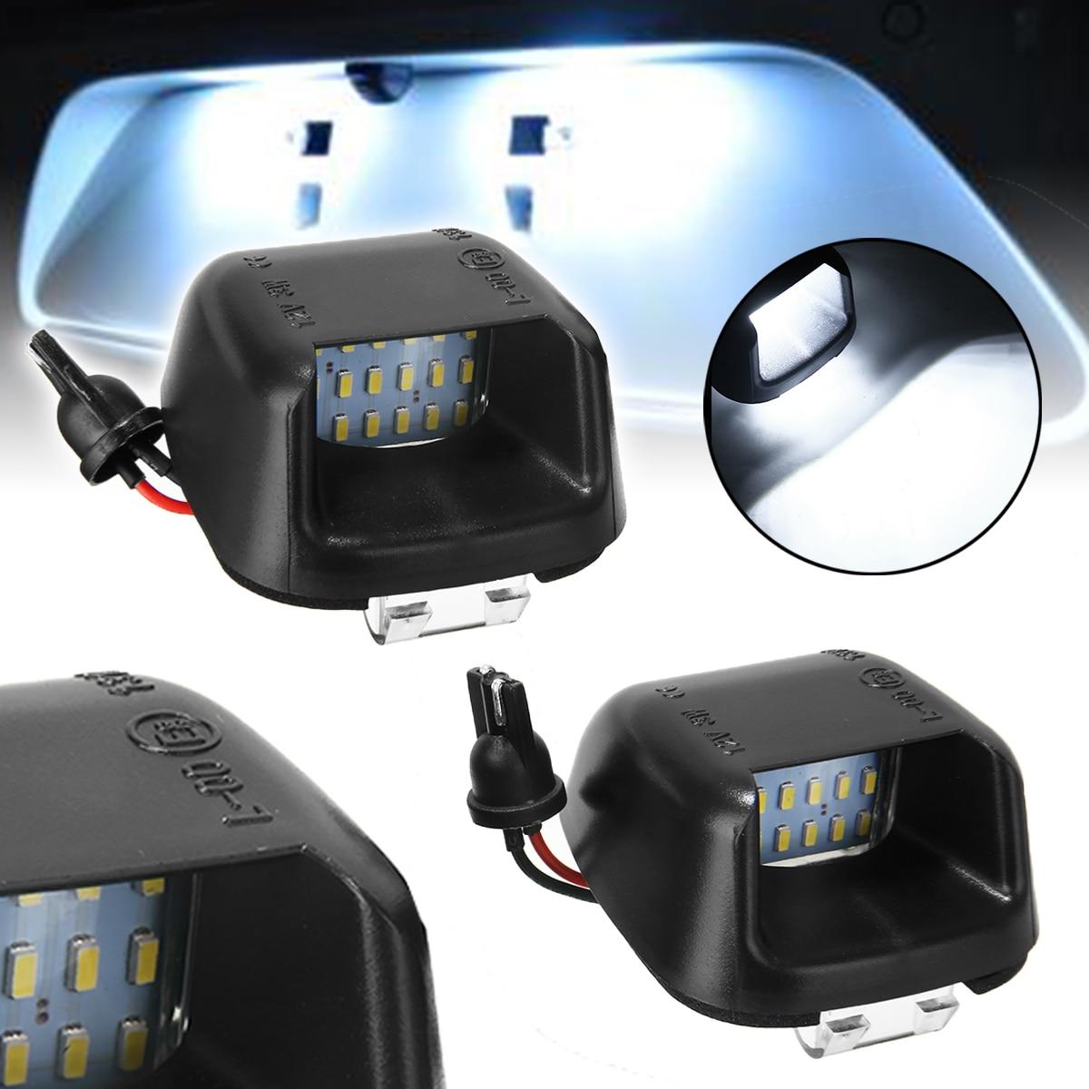 2x 6000k White LED License Plate Light Fits For Nissan Navara D40 Frontier 04-18