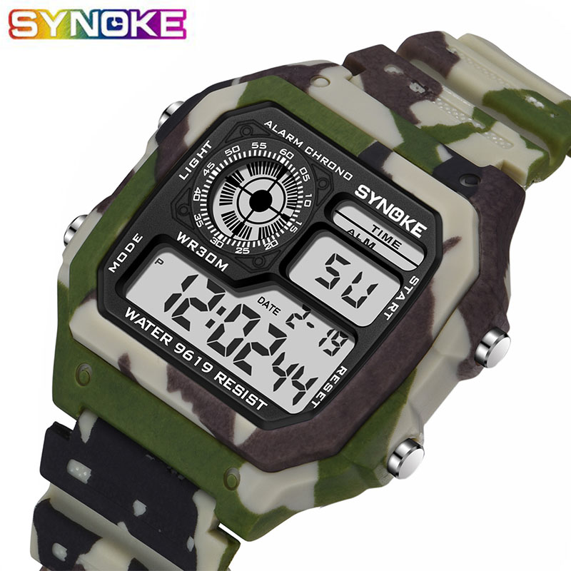 PANARS Kids Children Watch Boy Camouflage Multifunction Life Waterproof Sports Alarm Electronic Watches Reloj Kids New Arrival