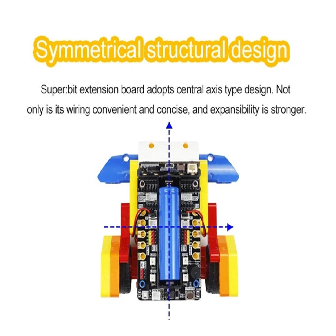 Programm Intelligente Roboter Baustein Auto Kit Verschiedene Formen Dampf Programmierung Bildung Auto Für Micro: Bit Programmierbare Spielzeug - 4