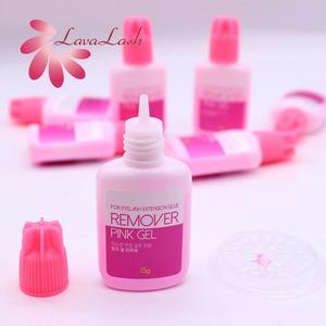 Image 5 - 10 pièces dissolvant de Gel rose pour Extension de cils corée 15g gros faux cils magasin de beauté outils de maquillage propre sans Stimulation
