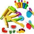 Цветной игровой инструмент для модели теста  игрушки  Креативные 3D инструменты для пластилина  Набор пластилина  глиняные формы  роскошный ...