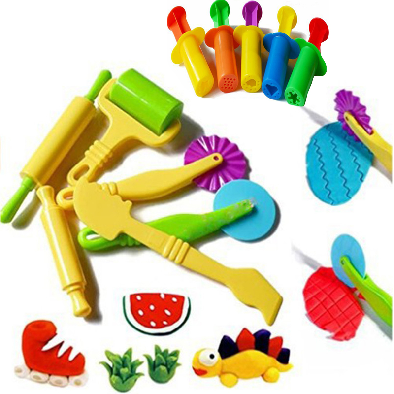 Color Play Dough Model Tool Toys Creative 3D Plasticine Tools Playdough Set, Clay Moulds Deluxe Set, Learning & Education Toys
