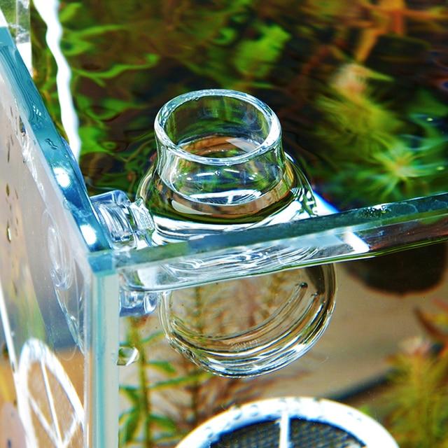 Glass Feeding Cup Fish Tank Feeder Brine Shrimp Eggs Red Worms Food For Aquarium 2