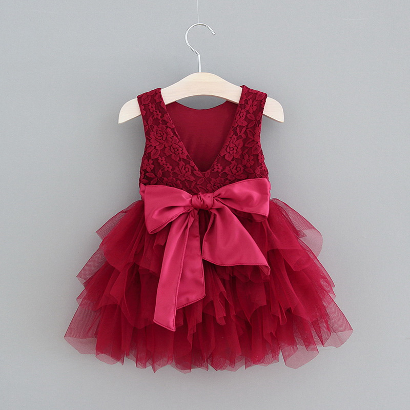 119-7-Lace Tulle Girls Dress