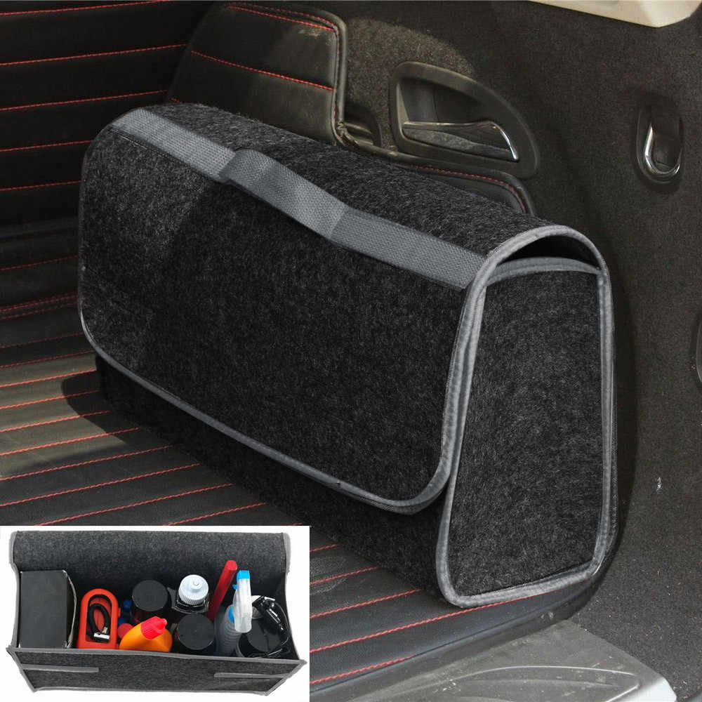 Portable Foldable Multipurpose Car Felt Cloth Folding Storage Box Organizer Case Auto Multi-use Tools Car organizer box Bags Box
