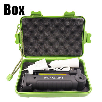 USB Rechargeable With Built-in Battery Set Multi Function Folding Work Light COB LED Camping Torch Flashlight 6