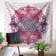 Simanfei Tapestry Mandala Elephant Print Polyester Living Room Bedroom Home Decoration Wall Hanging Beach Towel Blanket home decor elephant print wall hanging tapestry