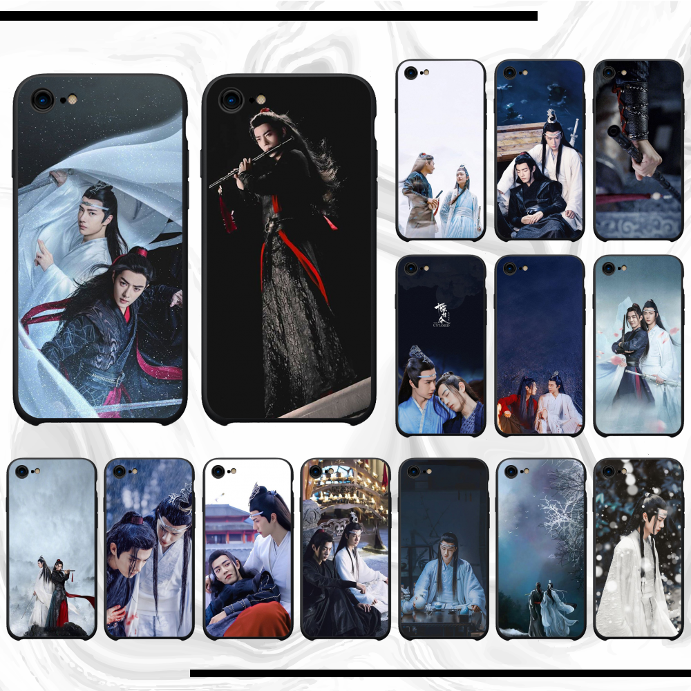 ChenQingLing The Untamed Wang Yibo XiaoZhan Black TPU Soft Rubber Phone Cover For iphone6 6s plus 5 5s 5se