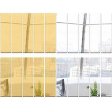 Strips Backdrop Wall-Stickers Acrylic Mirror Home-Decoration-Accessories Bedroom Hotel