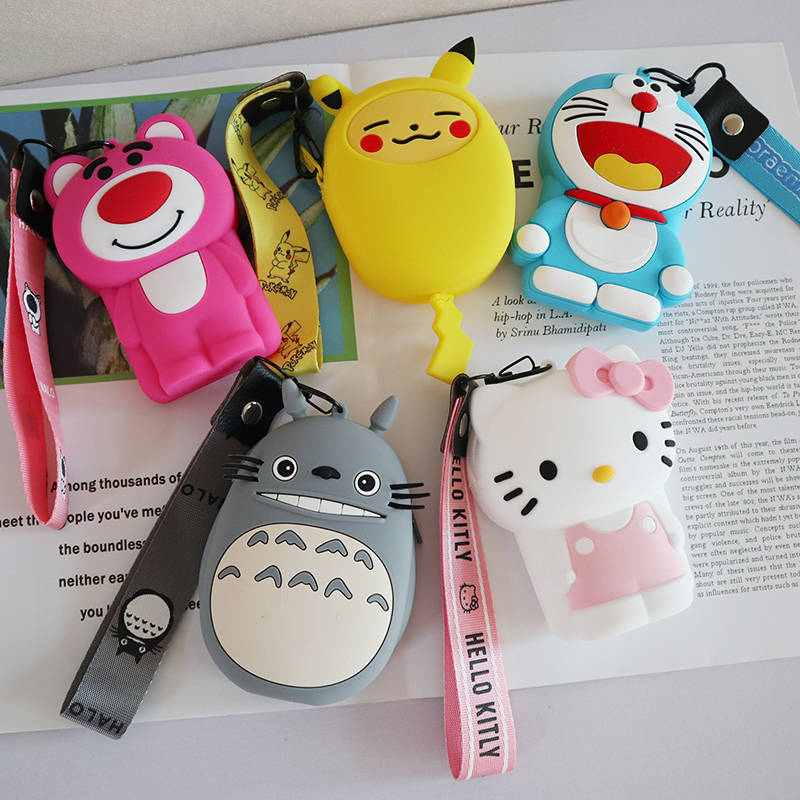 Drop Shipping Silicone Waterproof Shockproof Mini Coin Purse Protective Case Cover For Earphone Box Cute Cartoon Small Wallet
