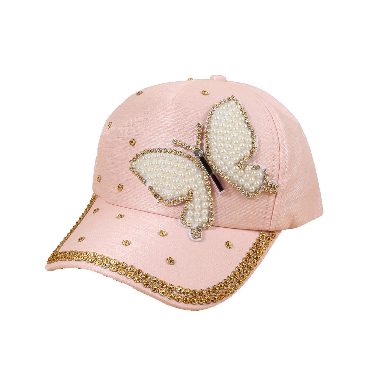 Children's cap Baseball Hat beach hat Sequined Butterfly for Toddler Baby Kids Boys Girls  Shading Women's cap hat baby girl