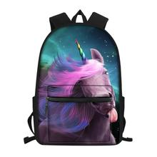 HaoYun Childrens Little Canvas Backpack Fantasy Unicorn Horse Pattern Students School Bags Kids Fashion Travel Backpacks