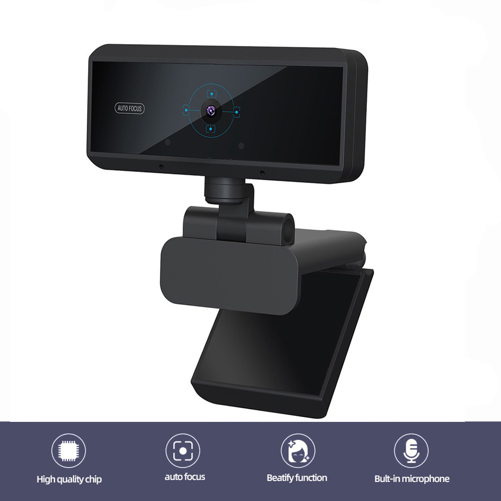 HD 1080P 5MP Webcam Built-in Microphone Auto Focus High-end Video Call Computer Peripheral Web Camera For PC Laptop  Game Cam