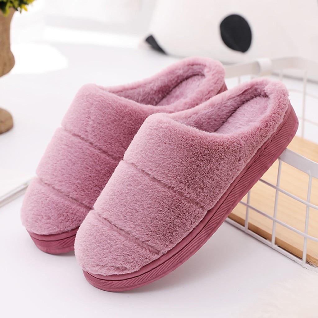 Hfb35dd6b9cec4ef490860e2f00169a81U Pantufa masculina e feminina, chinelo de pelo e listrado para casa, inverno 2020 sapatos pantufa