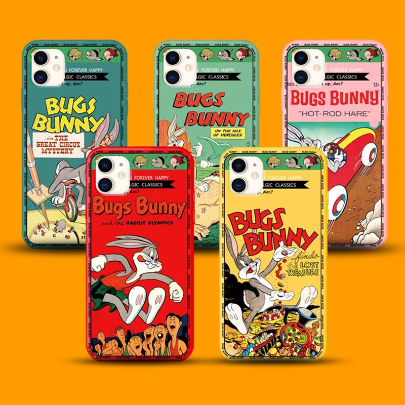 New Cute Cartoon Bunny Soft Silicon Bugs Phone Case For Apple Iphone 7 7plus 8 8plus X XS XR MAX 11 Pro 6s Plus Max Cover