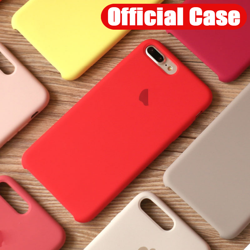 Original Official <font><b>Silicone</b></font> Phone <font><b>Case</b></font> For <font><b>iPhone</b></font> 11 Pro Max <font><b>Logo</b></font> <font><b>Cases</b></font> For Apple <font><b>iPhone</b></font> 7 8 6 <font><b>6s</b></font> Plus XR X XS Max Cover Funda image