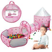 3PCS Kinder Zelt Haus Baby Pool Rohr Tipi Spielzeug für Kinder Ozean Ball Pool Pit Faltbare Baby Pipeline Krabbeln spiel Haus