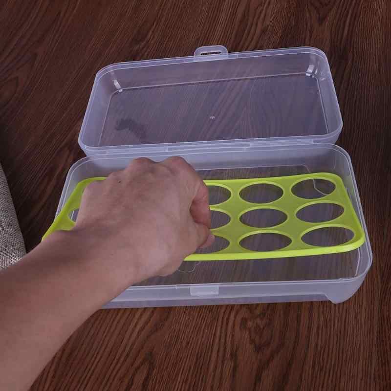 15 ตารางไข่พลาสติกคอนเทนเนอร์ตู้เย็นสดกล่องเครื่องมือห้องครัวแบบพกพา Picnic Wild ไข่ Organizer