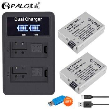 цена на PALO 2Pcs LP-E8 LP E8 LPE8 1800mAh camera Battery + LED Dual Charger For Canon EOS 550D 600D 650D 700D Rebel T2i T3i T4i T5i