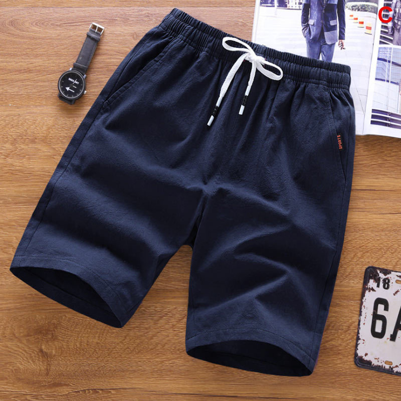 Clearance SaleCropped Trousers Pants Sports Shorts Knit Loose Straight Summer Casual 4XL New Cotton