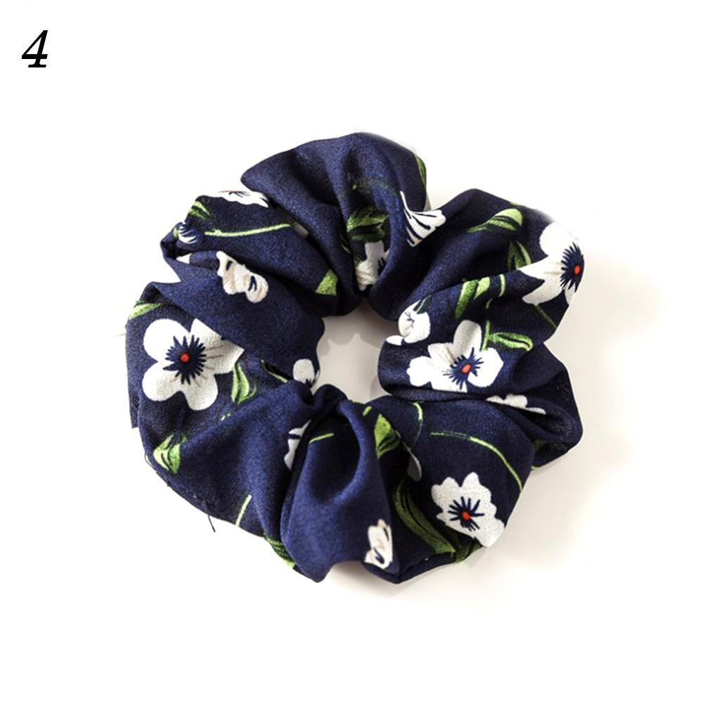 Корейский женский ободок для волос для девочек, полосатые женские резинки для волос, конский хвост, Женский держатель, веревка с ананасовым принтом, аксессуары для волос - Цвет: w4