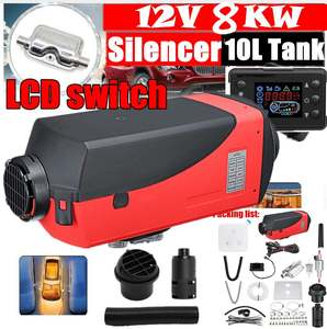 8KW Red Single Hole Heater Air Parking Heater Rotary Switch LCD Switch and Digital Switch With Muffler Silencer