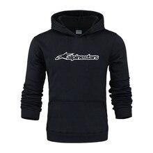 2020 Hiver Alpine Star Hoodie hommes manteau polaire épaissir Alpine Star Biker sweat homme pull Hip hop Leisure hoodie
