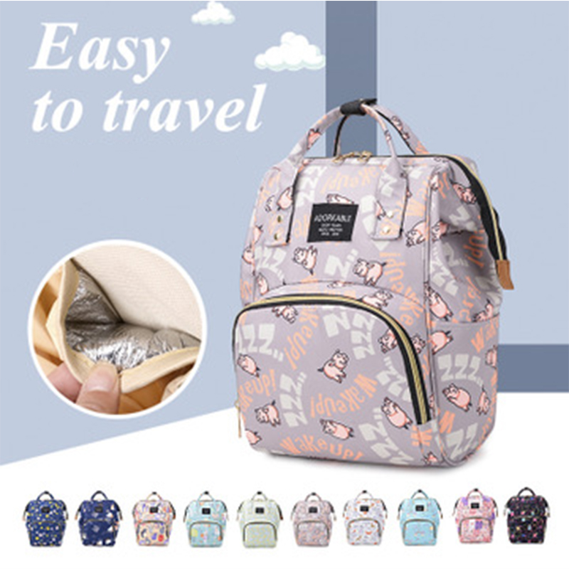 Diaper Bag Backpack Mom Outdoor Travel Backpack Printed Nursing Bag For Stroller Waterproof Nappy Bag Mummy Maternity Bags