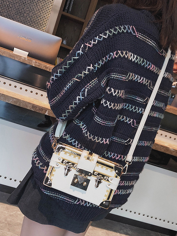 2019 box bag female hit color retro box ins super fire bag messenger bag chic bag small box