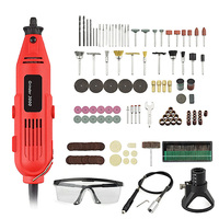 EU/US 220V 260W Mini Electric Drill Set Variable Speed Grinder Grinding Machine Engraving Accessories Dremel Rotary Tools|Electric Drills| |  -