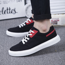 Sneakers Men Skate-Shoes Canvas Classic Breathable Wear-Resistant Solid-Color