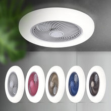 smart ceiling fan fans with lights remote control bedroom decor ventilator lamp 45cm air Invisible Blades Retractable Silent
