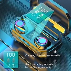 Image 5 - 3500 мАч Bluetooth наушники беспроводные наушники с сенсорным управлением светодиодный микрофон спортивная водонепроницаемая гарнитура наушники