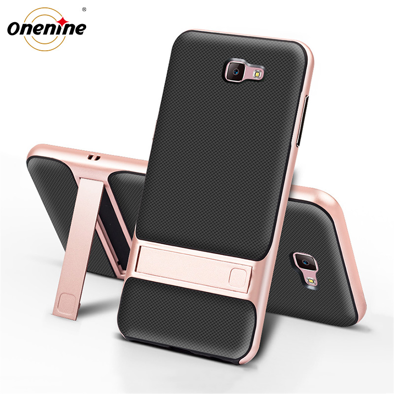 3D Kickstand Phone Back Cover για Samsung J7 Prime Case Cover TPU + PC Silicone Hybrid Carcasas SamsungJ7Prime J7Prime Nxt Prime2